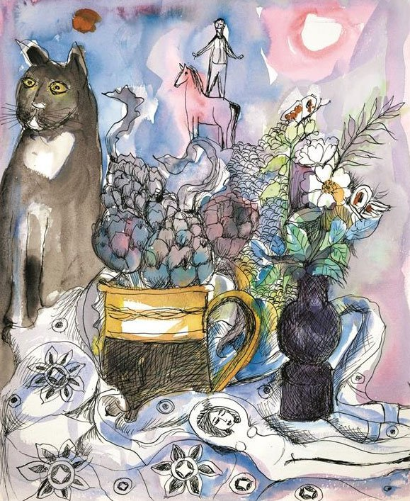 Cat and Artichokes