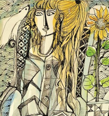 Sylvette and the Sunflower