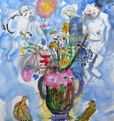 The Flowers and Parrots
