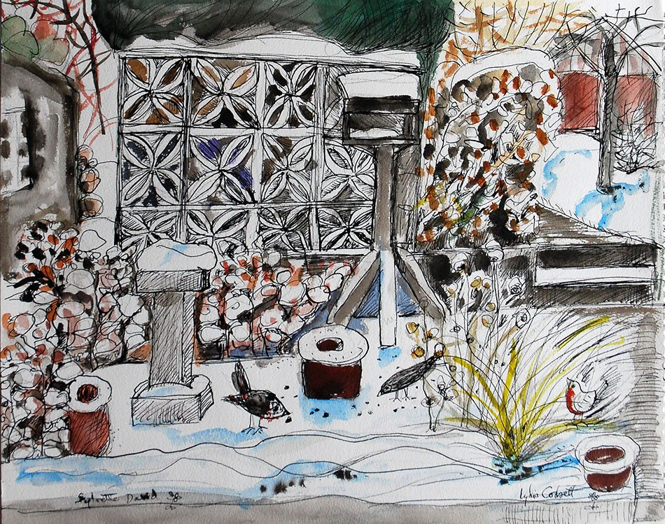 The Snow from the Kitchen, Cherry Trees