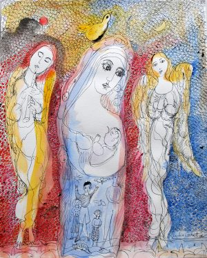 Mother and Child with the Angels